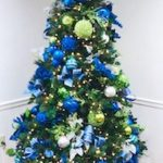 Blue holiday tree