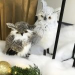 Holiday owl figurines