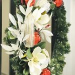 Wreath with flowers and ornaments