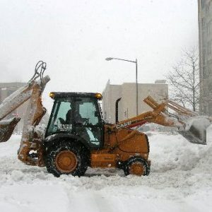 backhoe snow removal